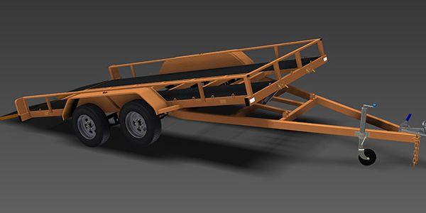 2500kg Tilt Flatbed Trailer | Flatbed trailer, Trailer ...