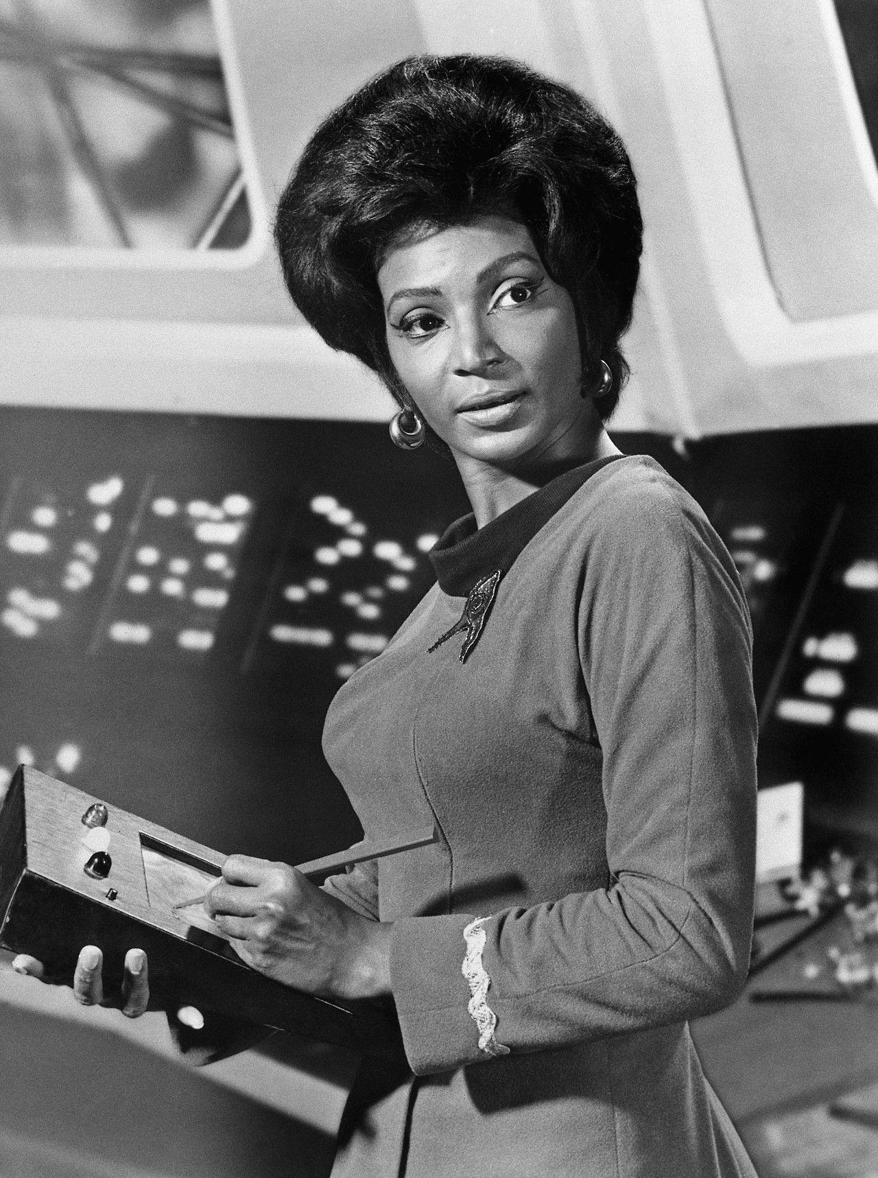 "Actress Nichelle Nichols as Lt. Uhura of TV series ""Star Trek ..."