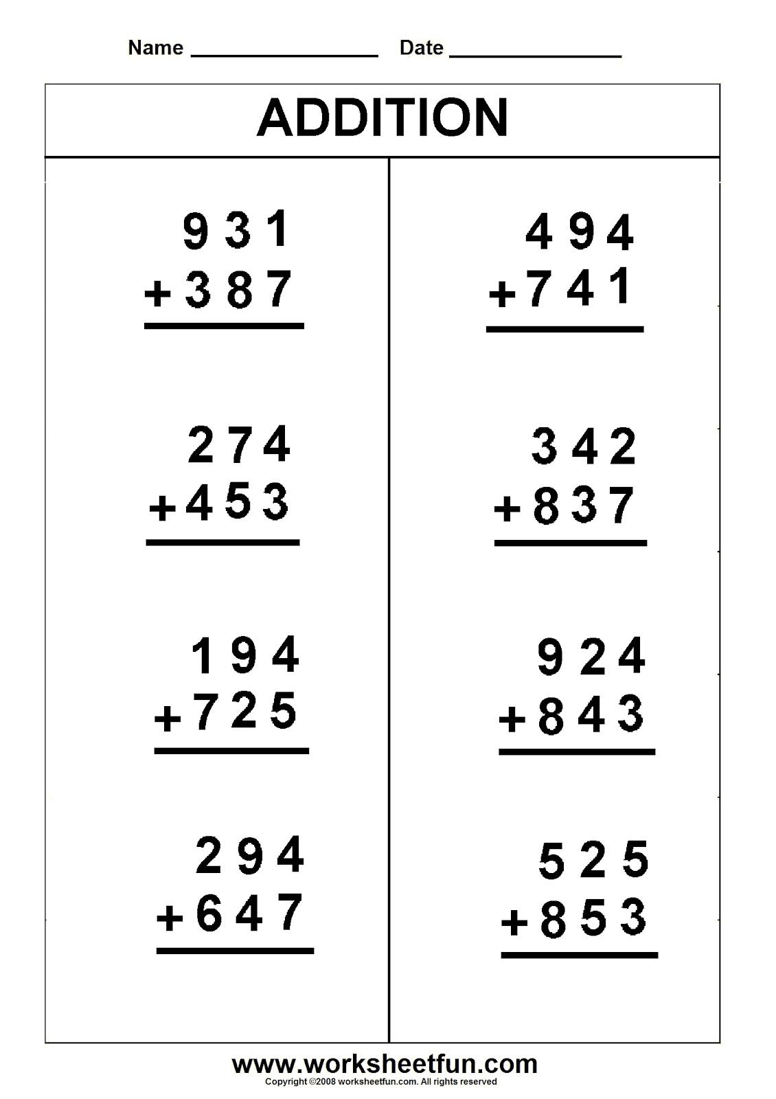 Divide 4 Digit Number By 3 Digit Number Worksheet