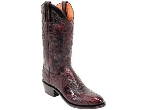 5a4474fa4fd Shop New Lucchese N1022 Caleb Mens Ostrich Leg and Goat Leather ...