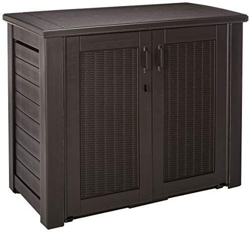 rubbermaid patio chic outdoor storage box storage sheds outdoor rh pinterest com