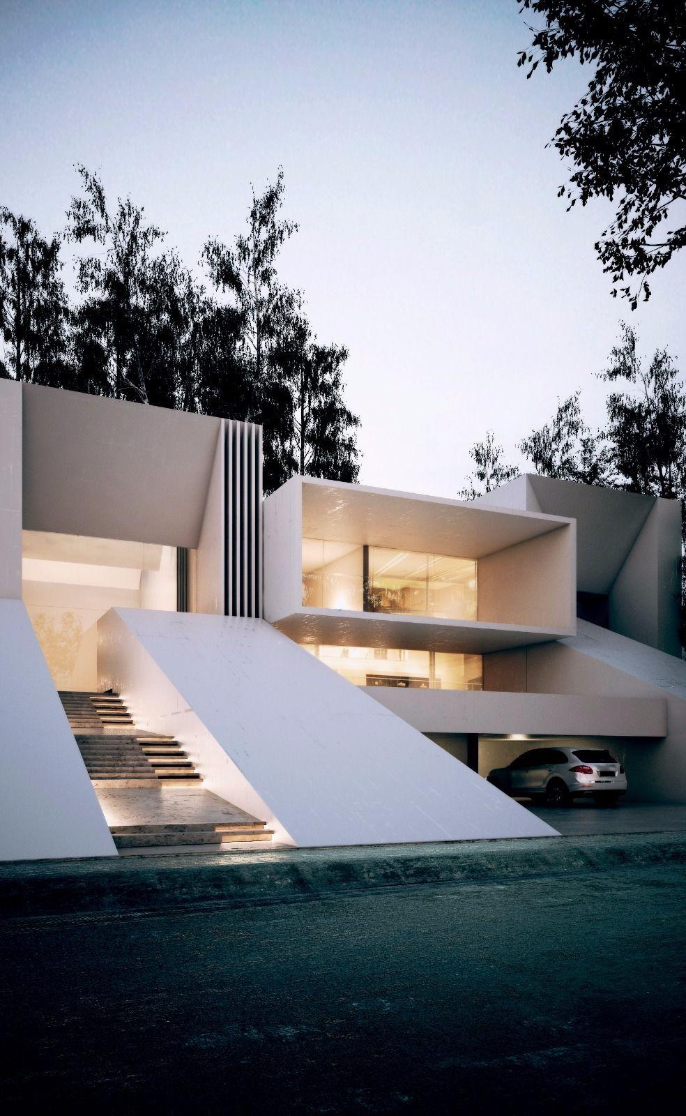 Luxury Luxe Villa Lifestyle Facade Creato Ultramodern
