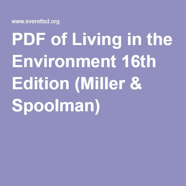 Pdf of living in the environment 16th edition miller spoolman pdf of living in the environment 16th edition miller spoolman fandeluxe Images