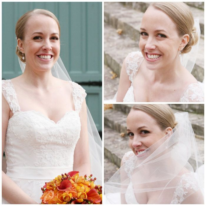 Such a beautiful bride.  Love her dress!