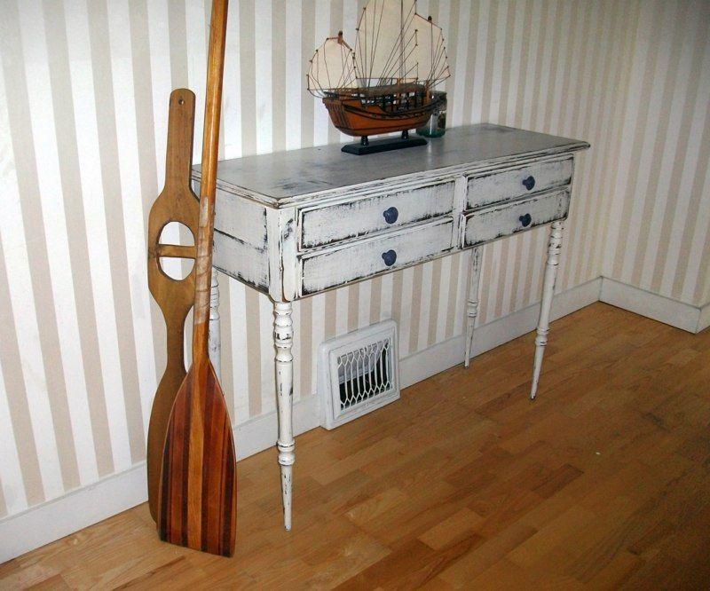 Vintage Möbel selber machen - Ein weißer Beistelltisch wohnideen - wohnideen selbst machen