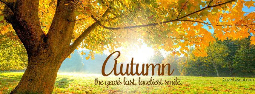 The Year's Last Loveliest Smile Autumn Facebook Cover