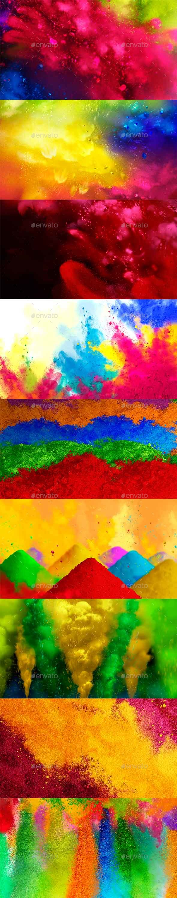 12 Painting Colorful Background