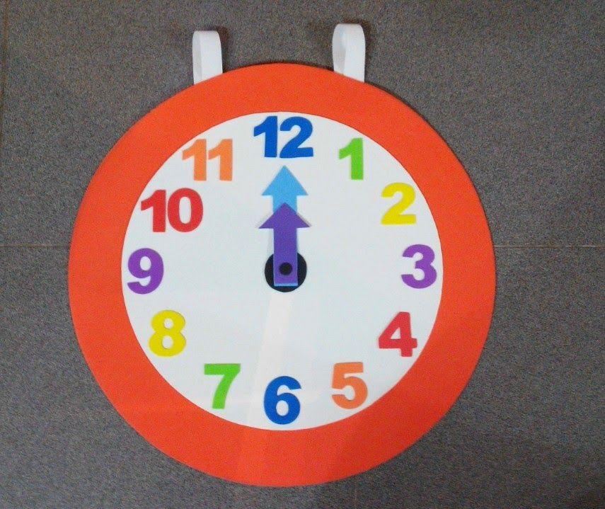 El aula de esther martinez el disfraz de reloj carnestoltes - Manualidades relojes infantiles ...