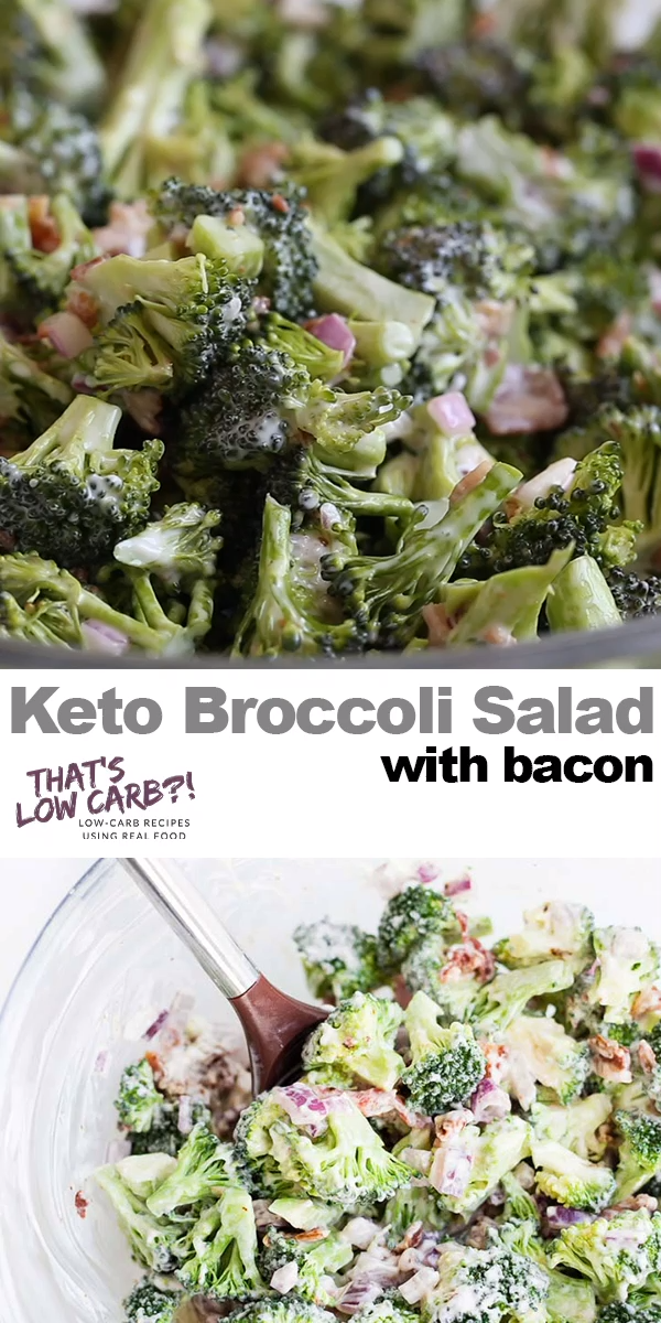 Easy Keto Broccoli Salad Recipe | Low Carb Recipes by That's Low Carb?!
