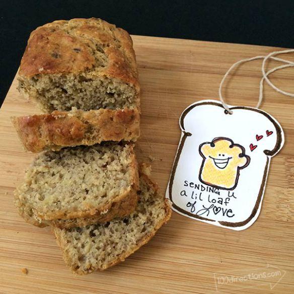 Banana Bread Recipe And Printable Gift Tag Banana Bread