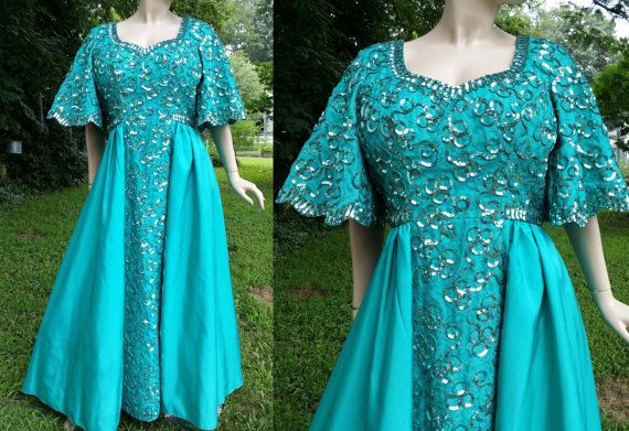 Plus Size 80s Prom Dress/ Vintage Evening Gown/ by ...