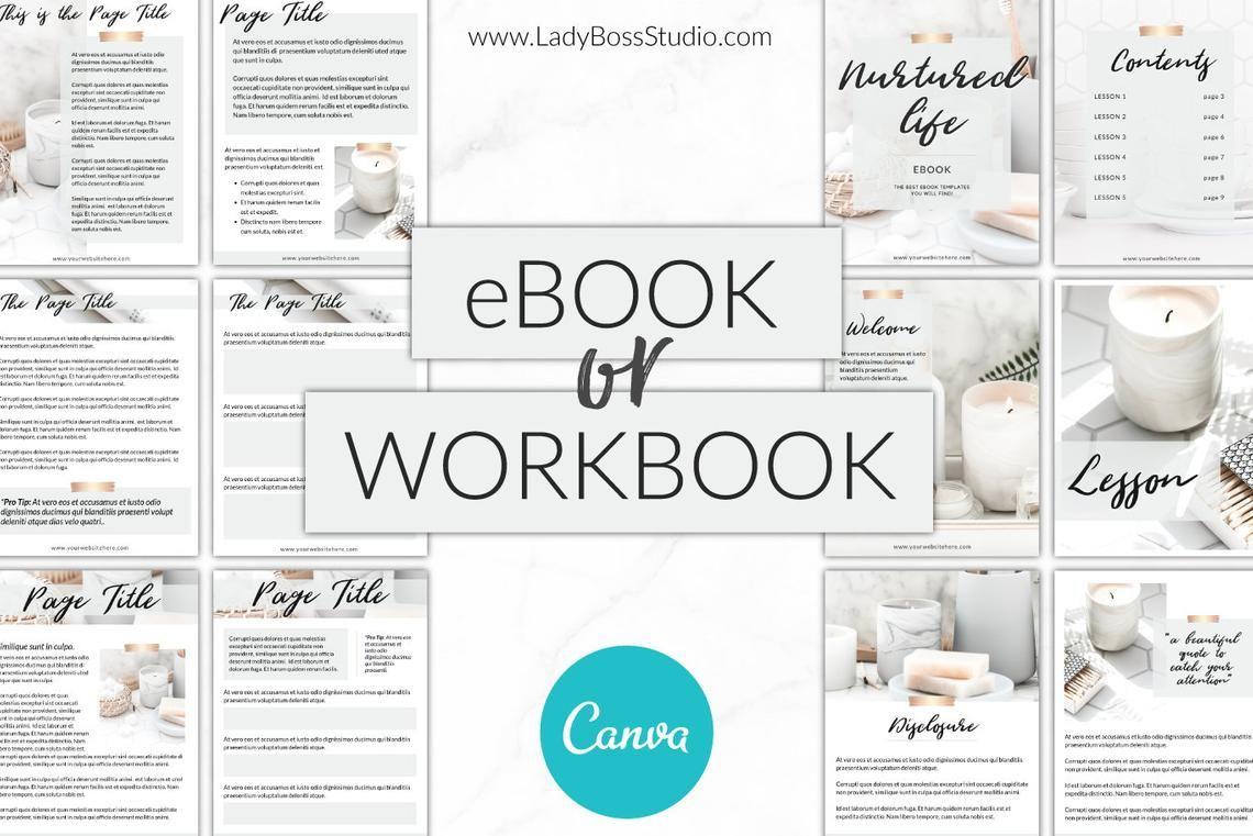 Canva Ebook Template Canva Template Workbook Templates