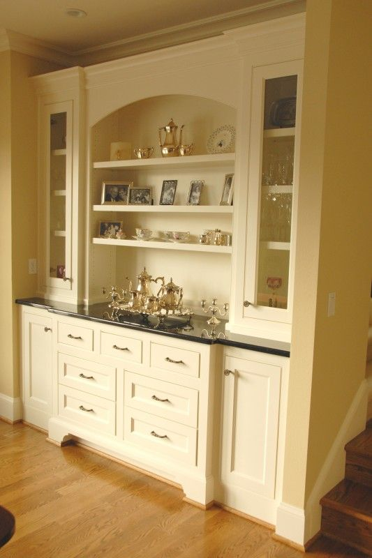 Built In Buffet Designs Painted Built In Buffet Cabinet This
