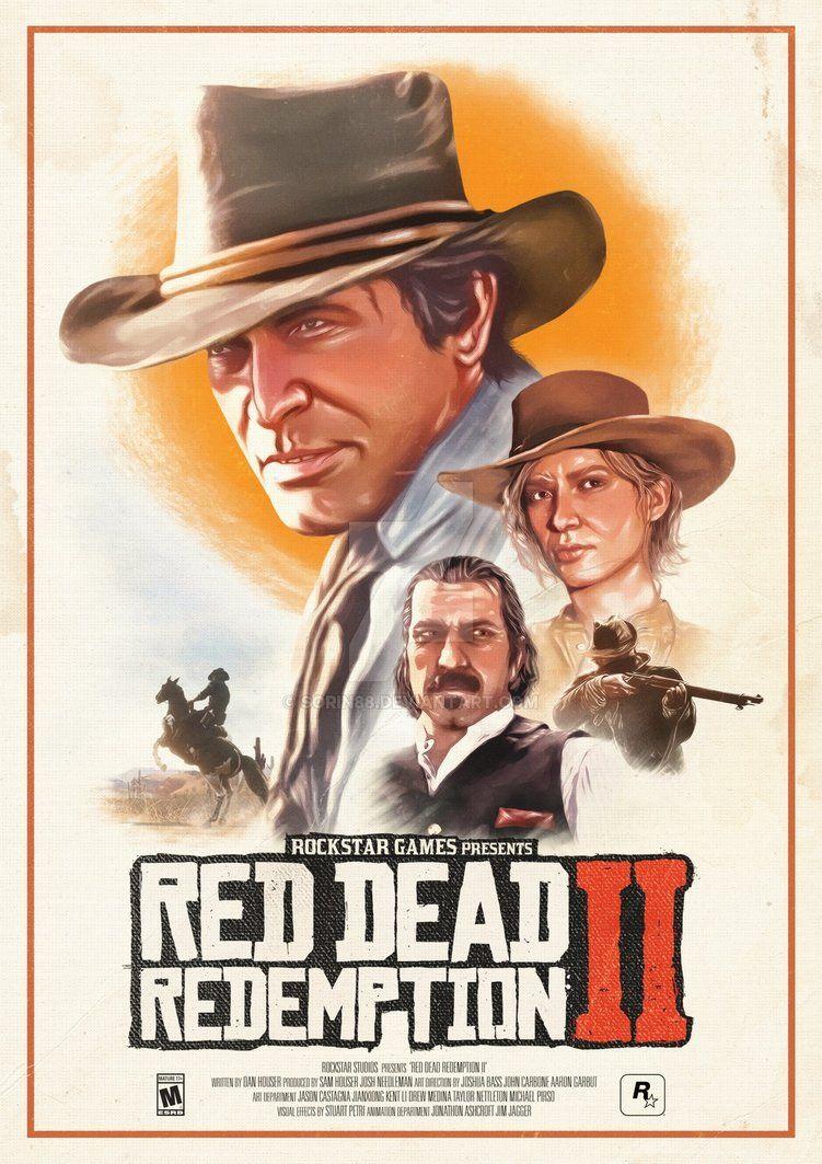 Red Dead Redemption 2 Poster By Sorin88 Fotos Iradas Papeis De