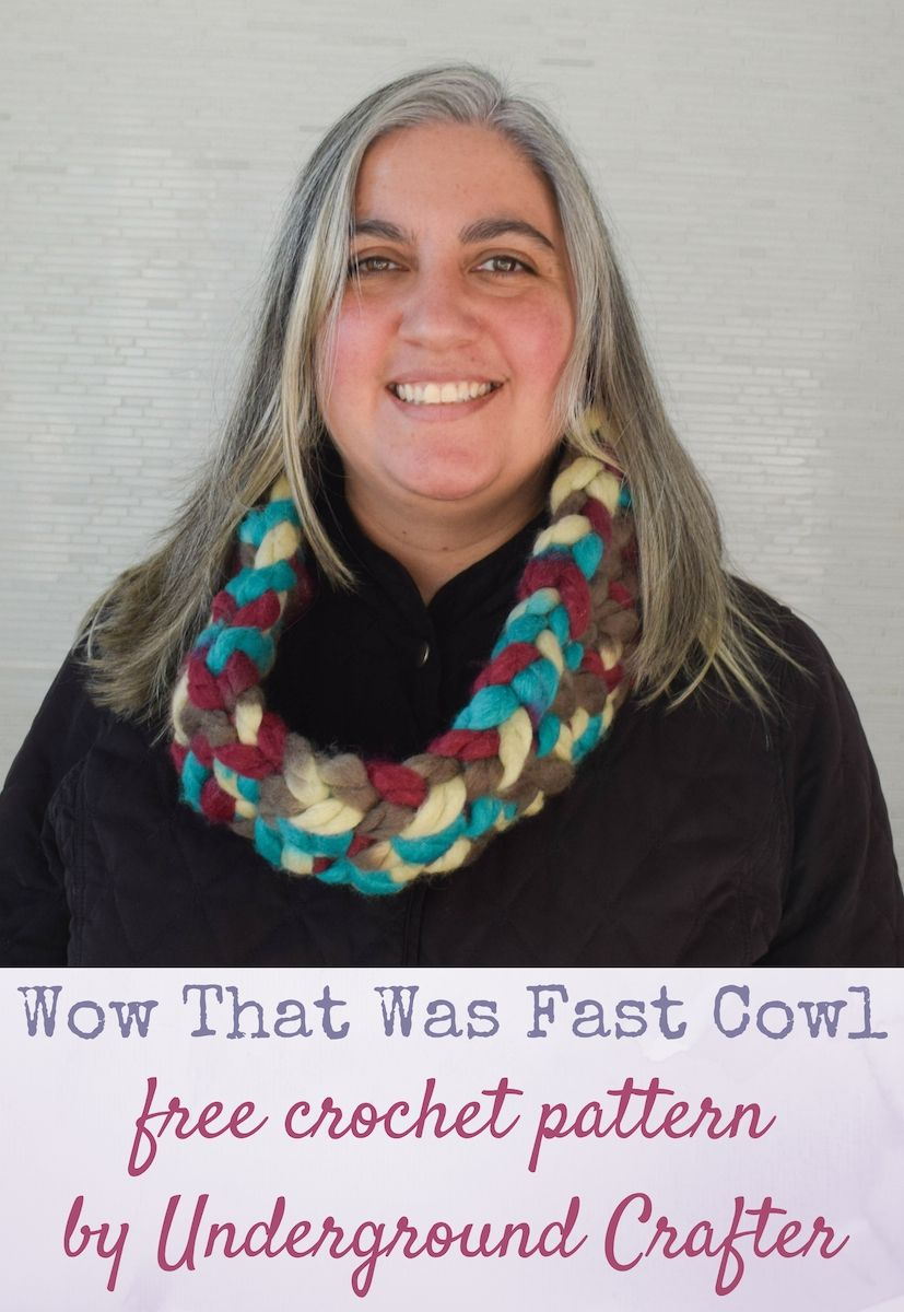Wow that was fast cowl free crochet pattern in red heart wow that was fast cowl free crochet pattern in red heart irresistible by underground crafter bankloansurffo Image collections