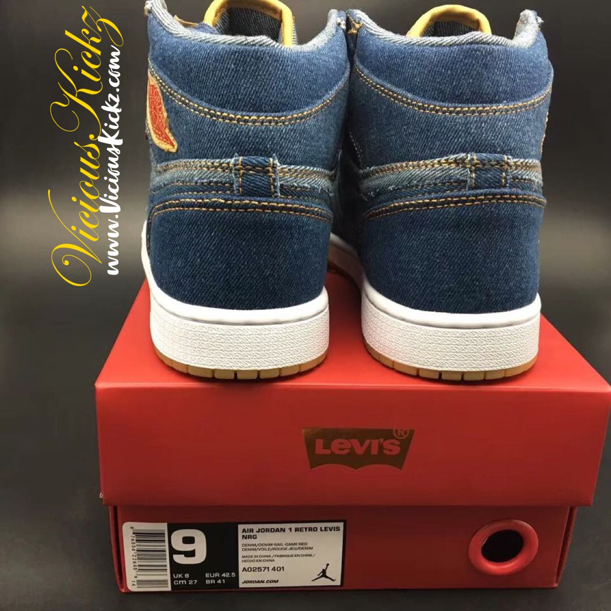 4bd4d7981bd Pin by vicious-kickz.myshopify.com on Levi's X Jordan 1 | Air ...
