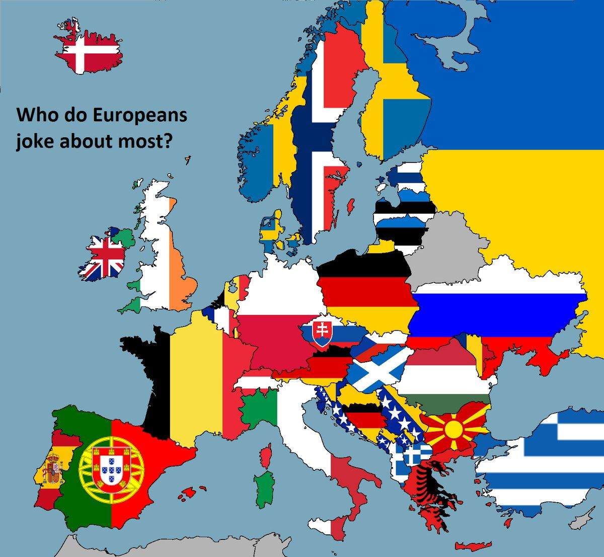 Who Do Europeans Joke About Most