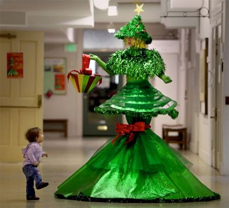 15 Unusual Christmas Trees Unusual Christmas Trees Christmas Tree Dress Christmas Tree Costume