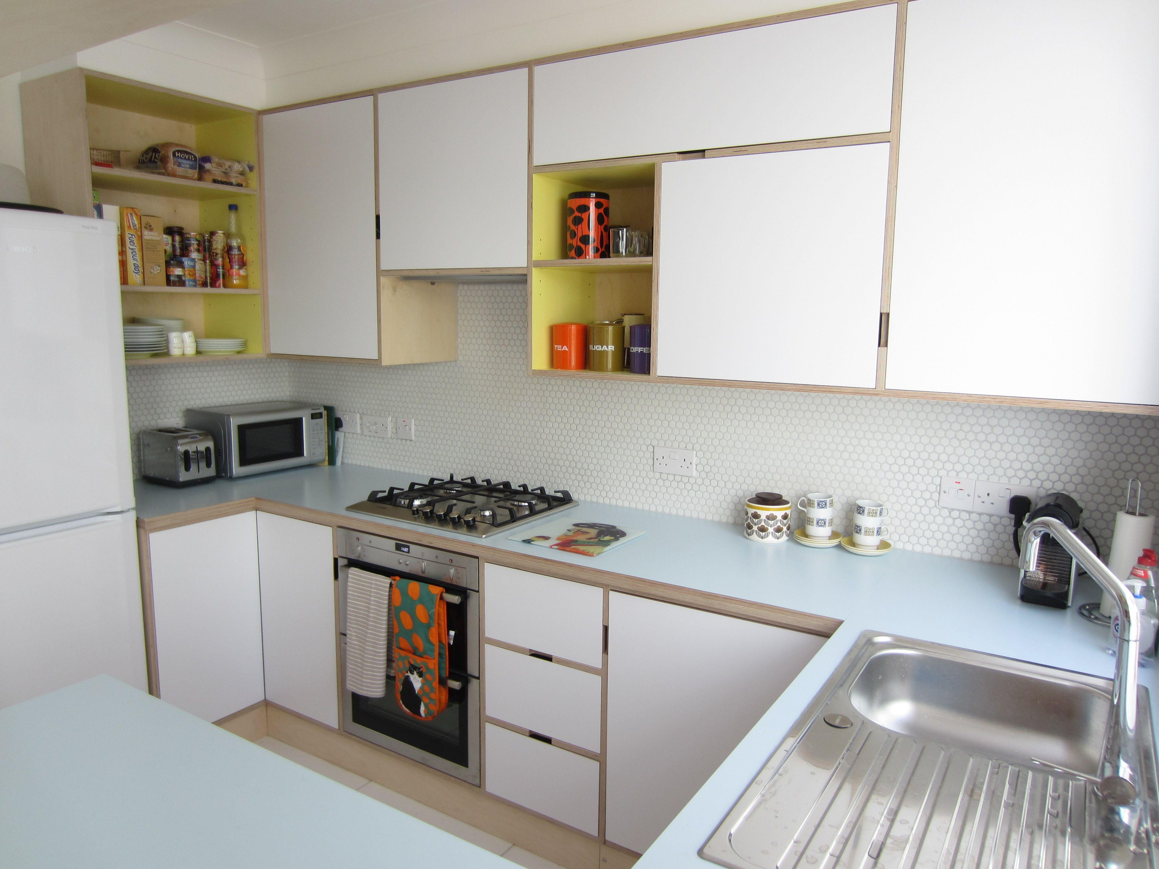Formica mobili ~ Plywood kitchen birch ply formica kandya mid century modern