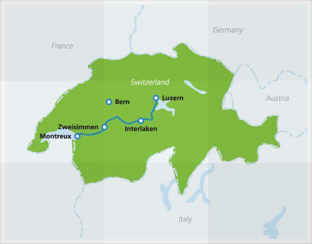 Golden Pass Scenic Train in Switzerland