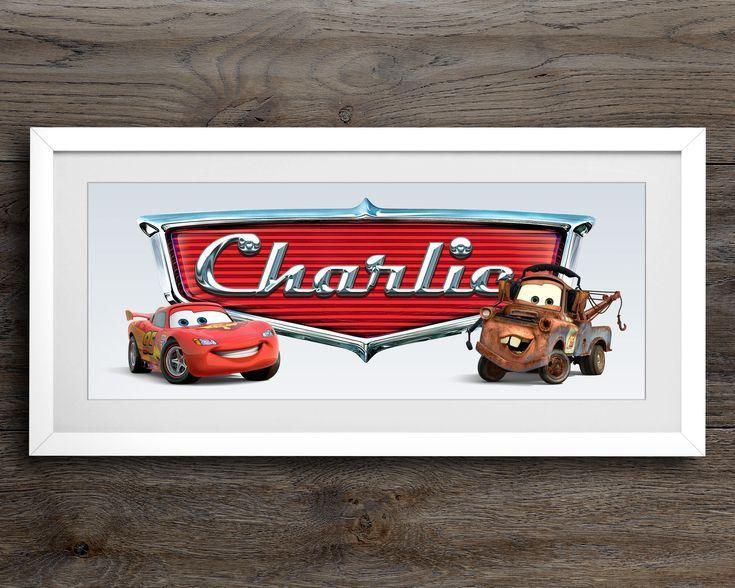 Lightning McQueen Name Art / Disney Cars / Disney Nursery Decor ...