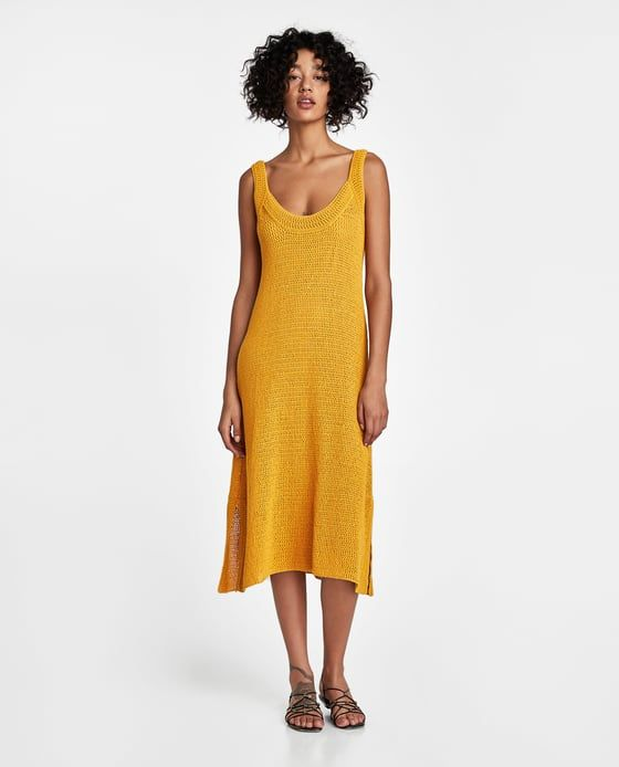 Punto DressDressesZara Outfit AbiertoWantKnit Vestido NwkZ80OXnP