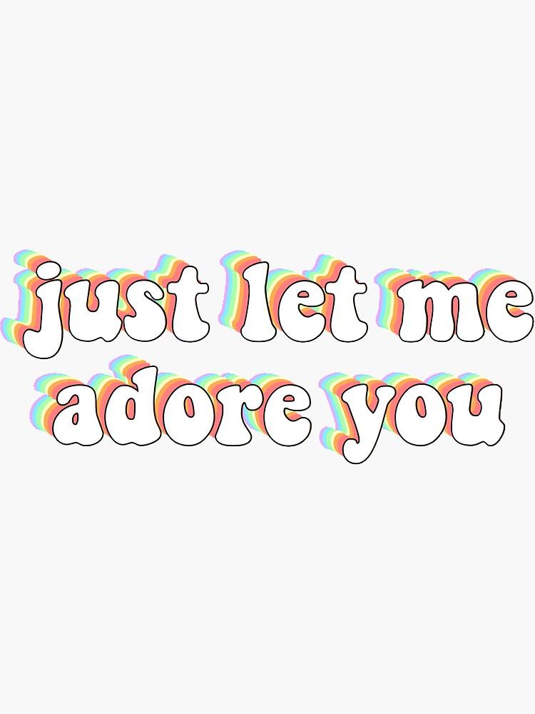 'Adore You Lyrics Harry Styles Fine Line' Sticker by