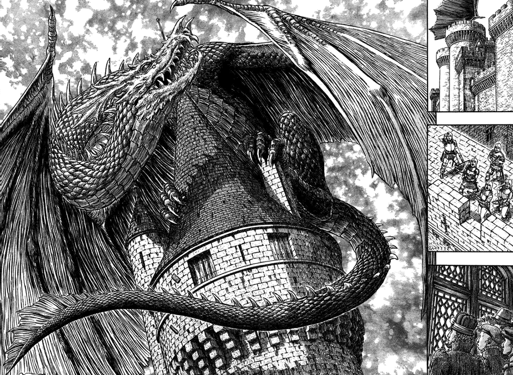 Berserk -Dragon | Berserk, Arte de cómics, Arte de fantasía oscura