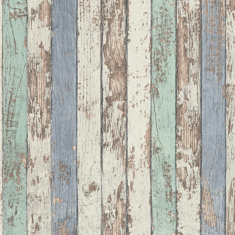 Narrow Wook Planks Wallpaper Rolls Blue As Creation 959141