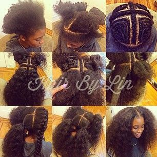 Natural Sew In on Pinterest  Hair Sew Ins, Curly Sew In and Vixen Sew