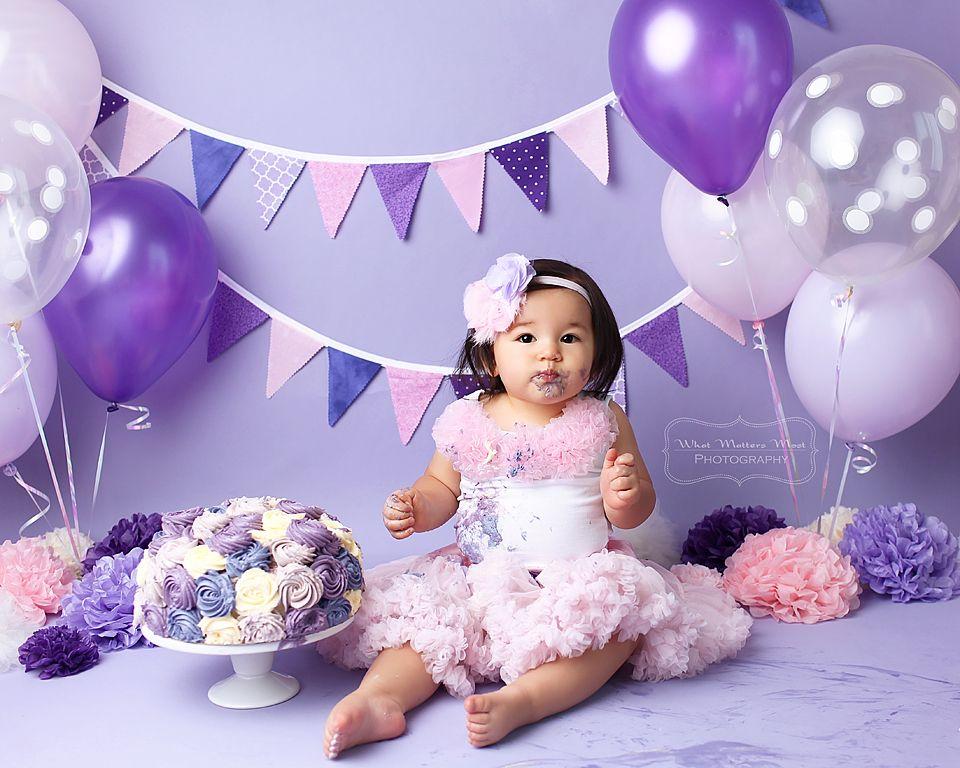 Lavender Headband First Birthday Pastel Colors Headband Sofia The First Headband Princess Party All Purple Headband Smash Cake