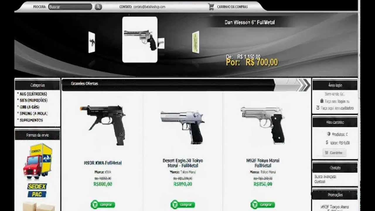 Onde comprar armas de Airsoft mais barato no Brasil.