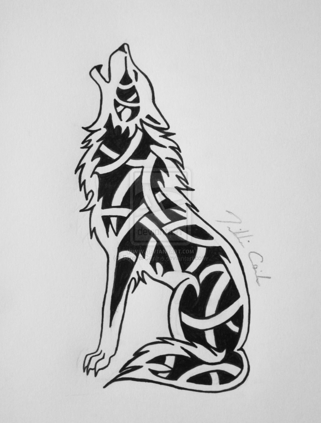 Celtic Knot Wolf By Forevercanine D808xho Jpg 1024 1347 Celtic Wolf Tattoo Celtic Tattoos Irish Tattoos