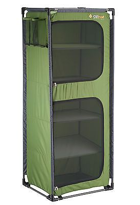 Oztrail Folding 5 Shelf Cupboard Camping Storage Outdoors Study Lightweight Camping Storage Camping Furniture Camping Storage Ideas Tent
