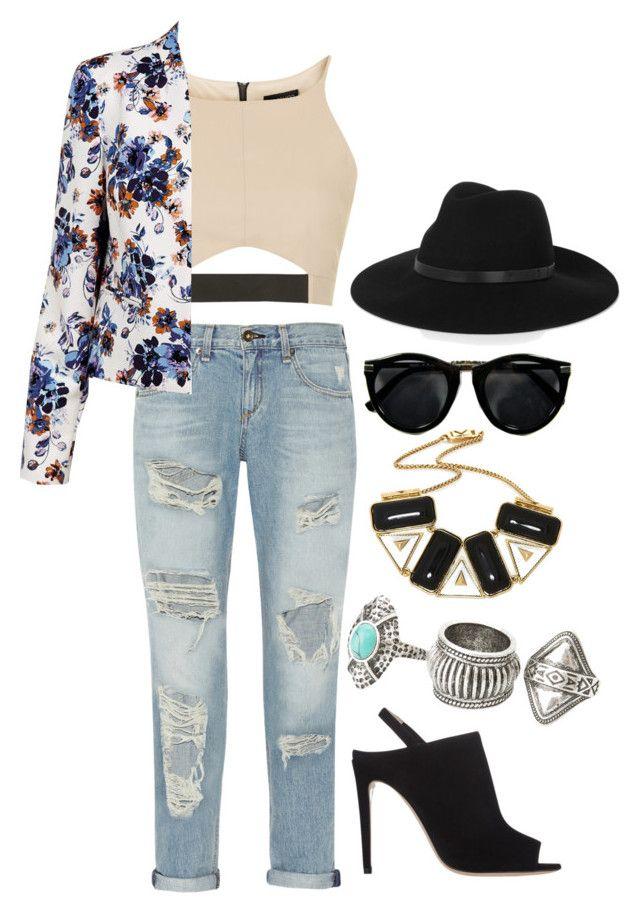"""""""Outfit #66"""" by tori8673 ❤ liked on Polyvore featuring rag & bone, Topshop, Miu Miu, Rose Pierre, MANGO and By Malene Birger"""