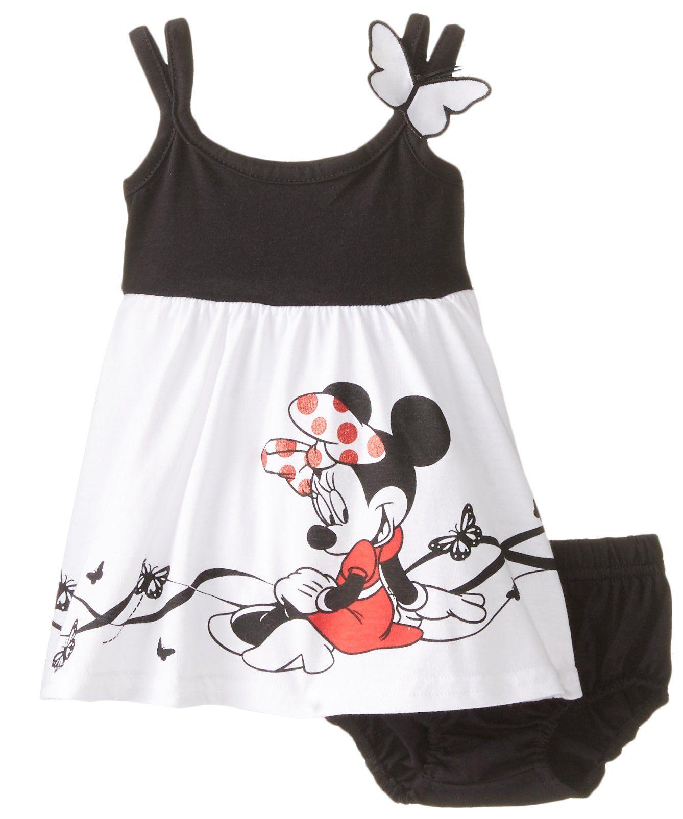 Disney Baby Girls Newborn Minnie Mouse Knit Dress with Panty Set