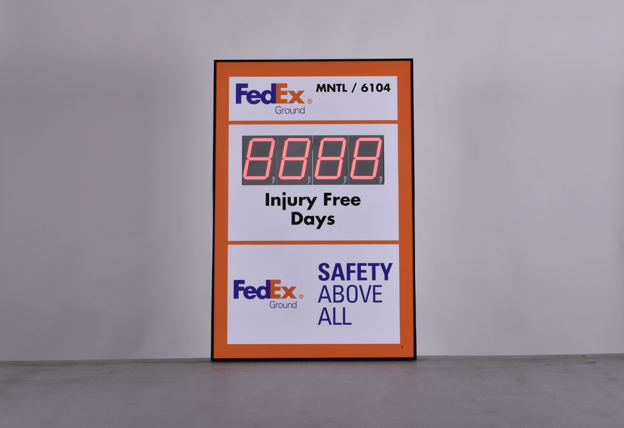 Fedex Delivery Days >> Accident Free Workplace Sign 36hx24w In 2019 Safety