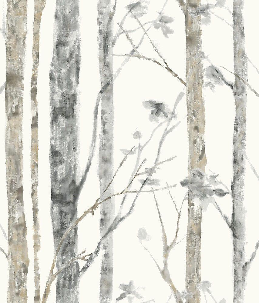 Pin By Valerie On Home Diy Ideas Deck Improvements Birch Tree Wallpaper Tree Wallpaper Peel And Stick Wallpaper