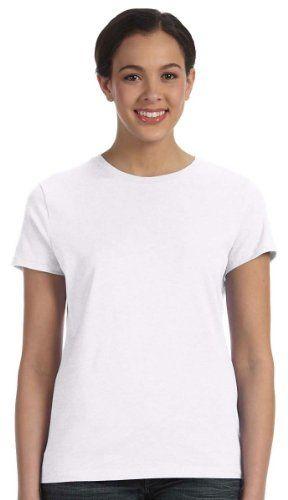 8b6e804578a00b Hanes Women's Nano T-Shirt, Medium, White   eCommerce   T shirt, T ...