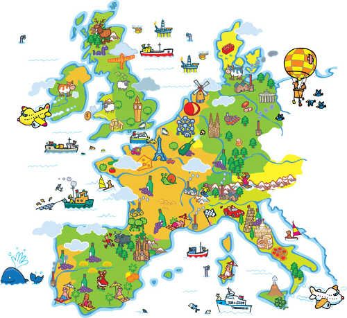 Magscape papel pintado magnetico mapa europa semana - Papel pintado mapa ...