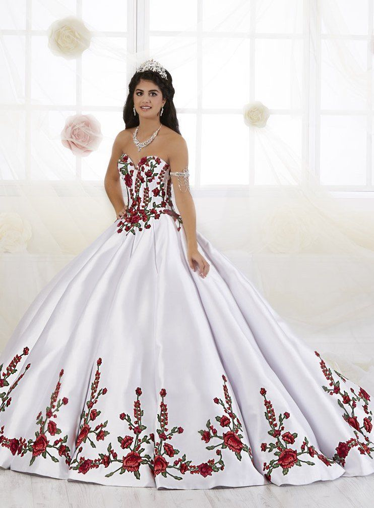 4e43441643f Check out the deal on House of Wu 26908 Bold Floral Quinceanera Dress at French  Novelty