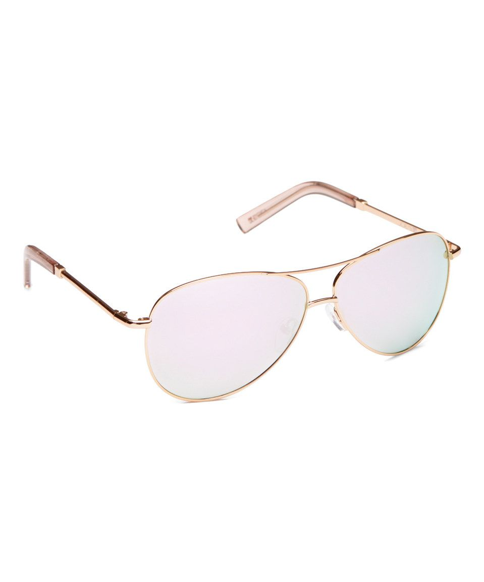 fe5f2597de Rose Gold Polarized Base 6 Aviator Sunglasses by Joe s Jeans  zulilyfinds