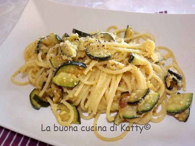 La buona cucina di Katty: Spaghetti alla carbonara di zucchine
