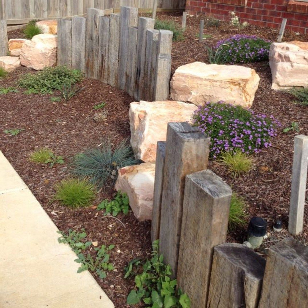 Front Yard Edging: Crazy Front Yard Retaining Wall Landscaping (32