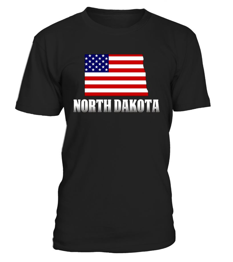 North dakota with america tshirt is a great way to show
