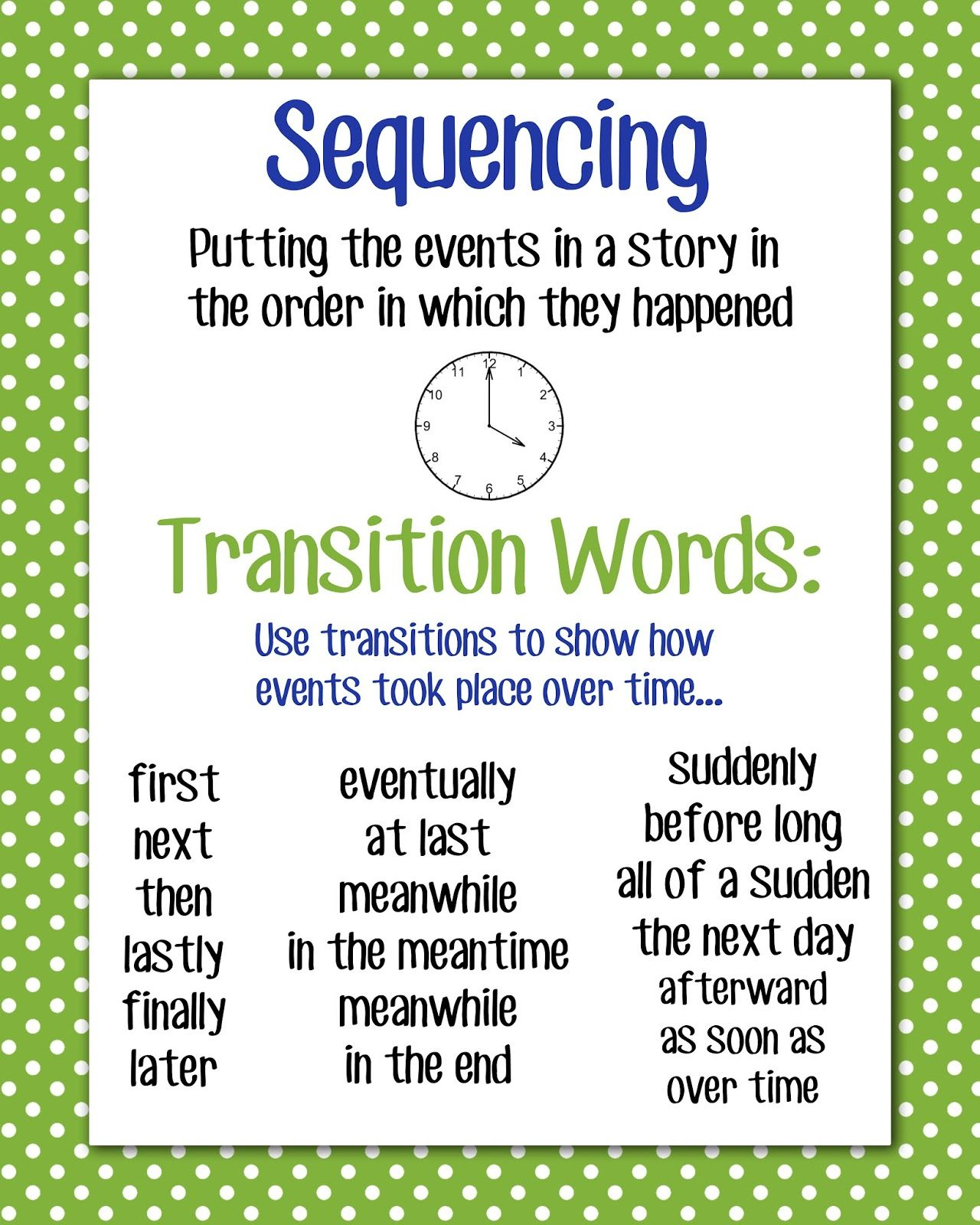 17 best images about transition words