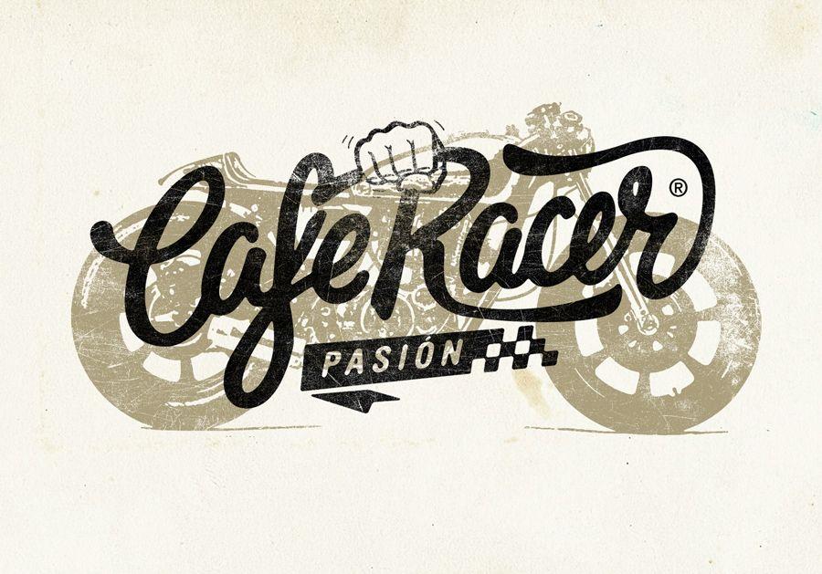 Cafe Racer Pasion Logotype Spain Cafe Racer Motorcycles Logo Design Bike Logos Design