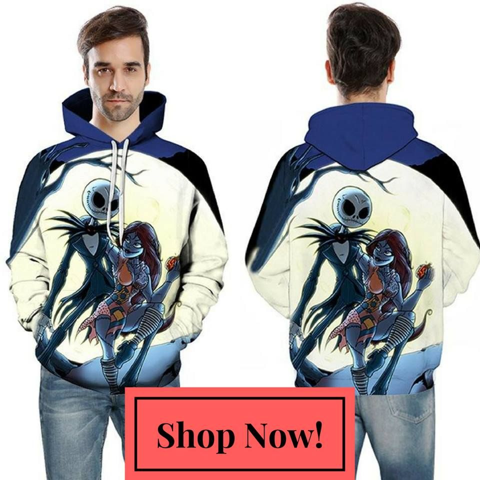 The Nightmare Before Christmas 3D Print Hoodies | Printed hoodies ...