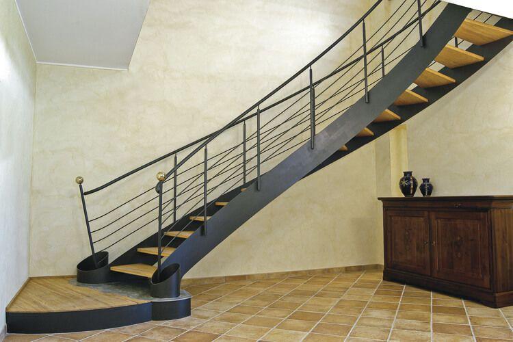 Scala per interni legno e ferro battuto interior stairs bonansea scale scaleinterne - Scale ferro battuto per interni ...