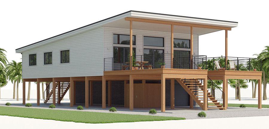 House Design House Plan Ch536 4 Stilt House Plans Coastal House Plans Modern Style House Plans